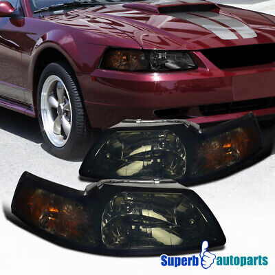 $90.98 • Buy For 1999-2004 Ford Mustang V6 GT Smoke Headlights Pair 99-04