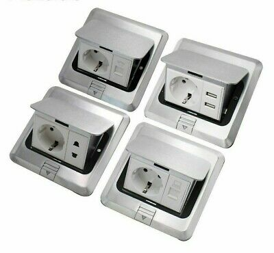 Electrical Floors Socket Aluminum EU Standard Golden/Silver For Home Applicances • 46.36£