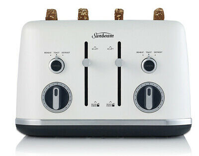 AU79 • Buy Sunbeam TA2640WS Gallerie Collection 4 Slice White Sky Toaster