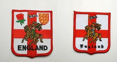 ENGLAND EMBROIDERED PATCH BADGE WITH ST GEORGE - 2 Sizes • 1.80£