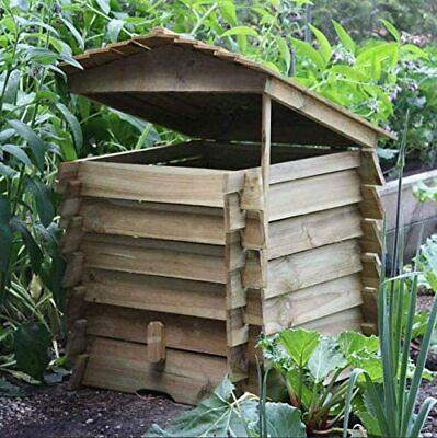 Large Wooden Composter Beehive Leaves Recycling Garden Waste Bin Box Soil 330L • 64.90£