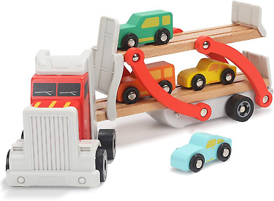 TOP BRIGHT Wooden Truck Toys For 2 Year Old Boys Gifts, Wooden Car Toy For Two 2 • 23.98£
