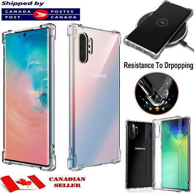$ CDN6.45 • Buy CLEAR Case For Samsung Galaxy Note 8 9 10 Plus Silicone Gel TPU Shockproof Cover