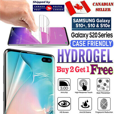 $ CDN3.70 • Buy For Samsung Galaxy S20 Ultra S10 S8 S8 Plus Full Curved Clear Screen Protector