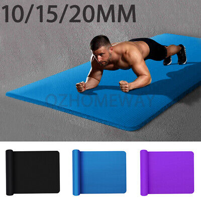 AU22.95 • Buy Yoga Mat Pad 10/15/20MM Thick NBR Nonslip Exercise Fitness Pilate Gym Durable AU