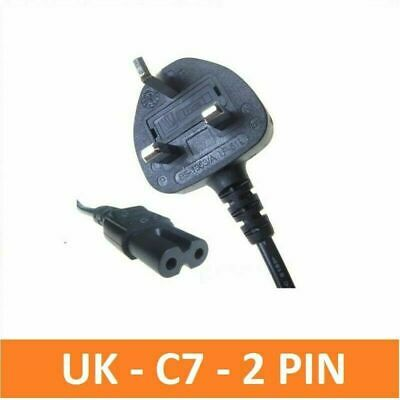 C7 2 Pin LAPTOP AC ADAPTER, CHARGER POWER LEAD, MAINS CABLE, CORD FIGURE 8 UK  • 3.98£