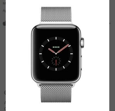 $ CDN624.90 • Buy Apple Watch Series 3 42mm Stainless Steel Case With Milanese Loop (GPS +...