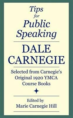AU31.47 • Buy Tips For Public Speaking : Selected From Carnegie's Original 1920 Ymca Course...