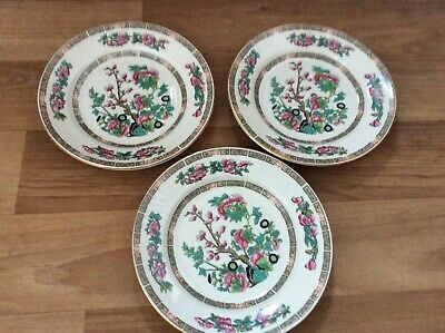 3 X Sampson Bridgwood Dessert  Cake Plates 8  Indian Tree - Freepost Uk • 12.99£