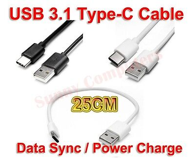 AU8.99 • Buy 2X Short USB Type-C Adapter Cable Charger Cord For Samsung Galaxy S20 FE 5G Lead
