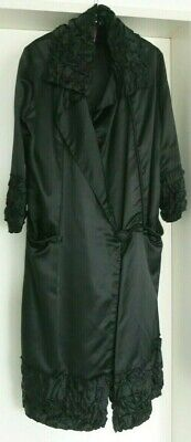 1920s - 1930s VINTAGE SILK COAT ANTIQUE England Black M - L ART DECO_FABULOUS • 359.20£