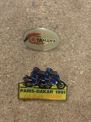 2 Yamaha Motor Sport Motorcycle Metal Lapel Pin Badges • 7.99£