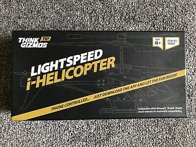 Th!nkGizmos IPhone/iPad Controlled Lightspeed I-Helicopter Christmas Present/Toy • 12£