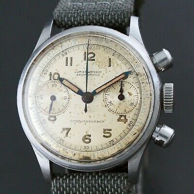 $ CDN267.59 • Buy Vintage Lumier A. Reymond Venus 150 Stainless Steel Chronograph Watch, All Orig.