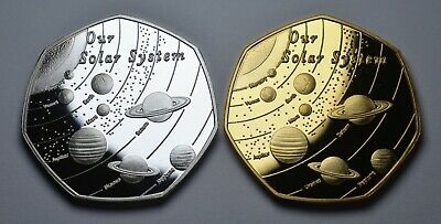 Pair Of OUR SOLAR SYSTEM Commemoratives. Space/Planets/Stars Earth/Moon/Mars  • 11.99£