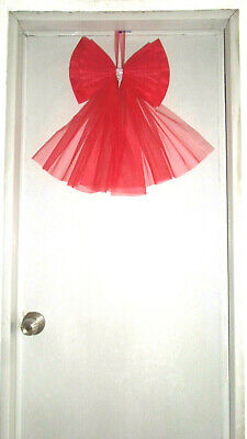 Christmas Door Bow Decor Xmas New Year Wedding Baby Shower Shop Topper Tree Etc. • 6.99£