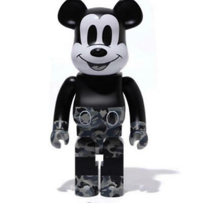 $1009 • Buy Medicom BE@RBRICK BAPE Mickey Mouse 1000% Black & White A BATHING APE Bearbrick