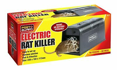 Electronic Mouse Trap Pest Control Poison-Free Rat Killer Mice Rodent Zapper • 23.49£