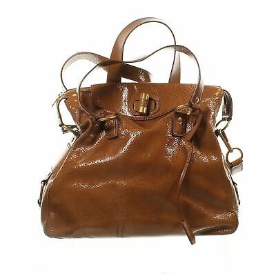 YVES SAINT LAURENT Muse Messenger Brown Patent Leather Tote Bag, 13  X 5  X 15  • 185.99£