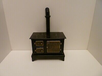 Dolls House Miniature 1:12th Kitchen Metal Old Fashioned Style Black Stove (T5) • 19.01£