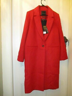 AU120 • Buy NWT Forever New Wool Blend Red Coat Size 16 XL European Imported Fabric Gorgeous