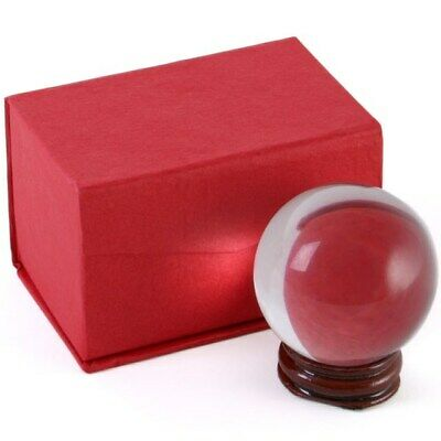 Crystal Ball & Stand Optical Glass Boxed Photography Divination Spell 50mm 5cm • 6.99£