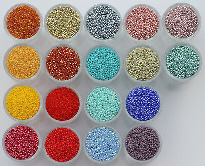 AU1 • Buy  Czech Glass Seed Beads 11/0 10g. Rocaille,Preciosa,each Add. Item Is Free Post.