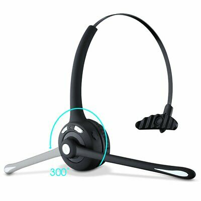 Mpow Pro Trucker Bluetooth Headset Over-Head Headphone MIC For Skype Call Center • 18.59£
