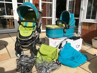 ICandy Peach Pushchair/buggy/stroller With Carry Cot & Accessories In SWEET PEA • 175£