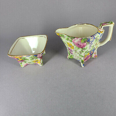 $ CDN44.31 • Buy Vintage Royal Winton Grimwades SUMMERTIME Chintz YORK Sugar/Creamer Breakfast