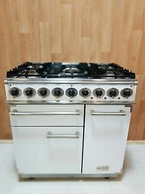 Falcon 900 De Luxe Multifunction Dual Fuel Range Cooker In White/ Nick..ref--c23 • 1,490£