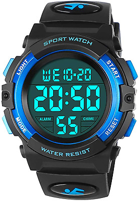 Kids Watches For Boys, Outdoor Waterproof Digital Sports Watch With Childrens - • 15.91£