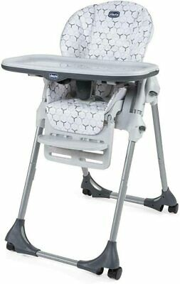 New Chicco Polly Easy Highchair In Verdant From 6 Month To 15 Kg With 4 Wheels • 79£