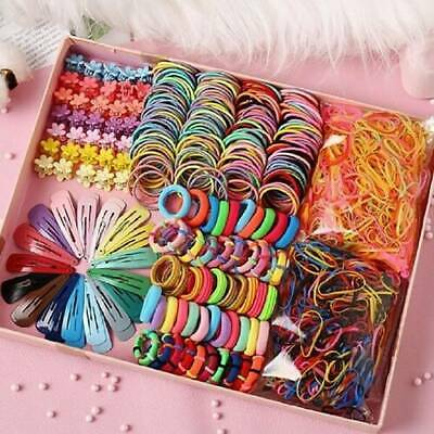 $ CDN2.90 • Buy 220Pcs Candy Color Girls Hair Clips Rope Ponytail Holder Kids Hair Accessory New