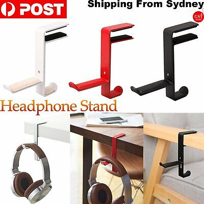 AU9.99 • Buy Metal Earphone Headset Desks Display Stand Hanger Holder Headphone Bracket Hook