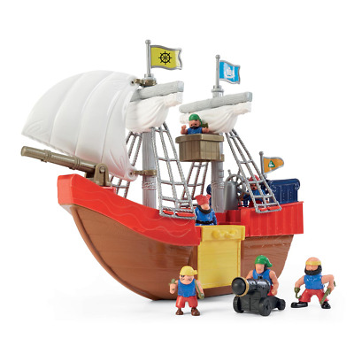 £27.50 • Buy ELC Pirate Figure And Ship Kids Activity Toys Birthday Gift Sale Fast Delivery