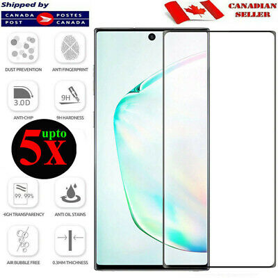 $ CDN5.45 • Buy For Samsung Galaxy Note 8 9 10 Plus Full Cover Tempered Glass Screen Protector