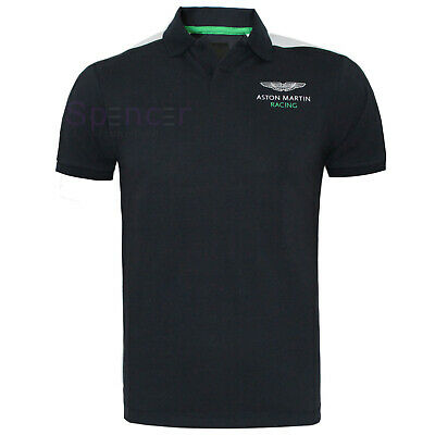 HACKETT MEN ASTON MARTIN RACING ARM SHOULDER POLO SHIRT Size: M NEW Was 105.00 • 39.99£