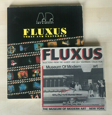 2 FLUXUS BOOKS: Today And Yesterday + Gilbert & Silverman MOMA Yoko Ono Art • 50£