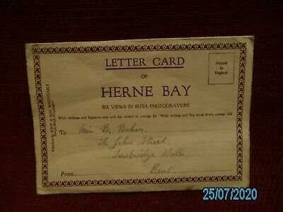 Old Letter Card Of Herne Bay Kent 1941 • 3.99£