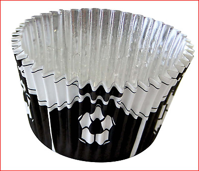 £12.47 • Buy PME Black Football Foil Lined Baking Cases For Cupcakes, Standard Size With Pack