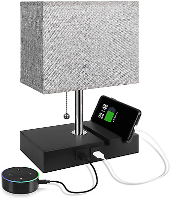 USB Table Lamp With 2 Useful USB Ports, Aooshine USB Bedside Lamp, Suitable For • 35.80£