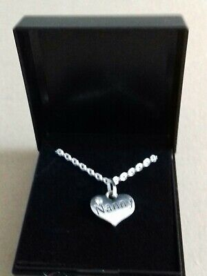 Nanny Heart Charm Necklace  Silver Chain Gift Boxed. Free Postage • 3.49£