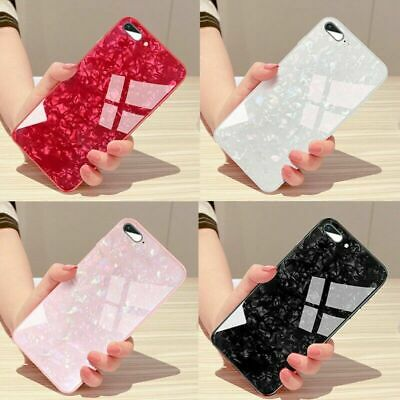 For IPhone 11 Pro MAX XR XS 7 8 Plus Case Tempered Glass Shockproof Marble Case • 3.37£