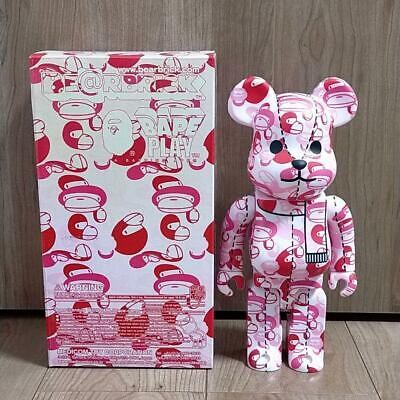$408 • Buy A BATHING APE × BE @ R BRICK 400% Ape (Pink) Bearbrick 400% With Box From JAPAN
