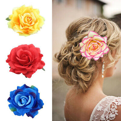 $ CDN2.50 • Buy Rose Flower Bridal Hairpin Hair Clip Brooch Wedding Bridesmaid Party Accessories