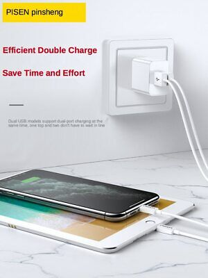 AU13.95 • Buy Pisen 2 Ports USB Au Wall Plug Faster Charger Adapter For IPhone Galaxy 2.4amp