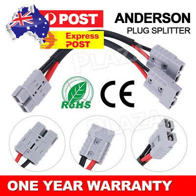 AU14.85 • Buy 50 Amp Genuine Anderson Plug Connector Double Y Adaptor 6mm Automotive Cable