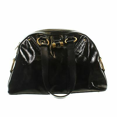 YVES SAINT LAURENT Black Patent Leather Small Muse Tote Bag, 9.5  X 4.5  X 14.2  • 194.99£