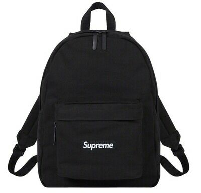 $ CDN216.16 • Buy Supreme Canvas Backpack Black FW20 New *IN HAND*